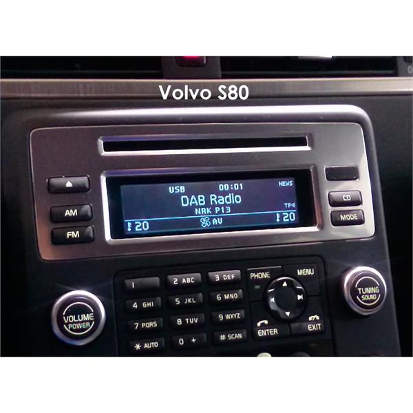 l sning dab radio i volvo v70 xc70 s80 xc90 via usb med. Black Bedroom Furniture Sets. Home Design Ideas